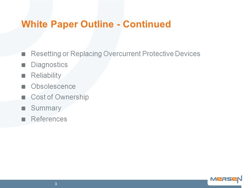 White Paper Outline - Continued