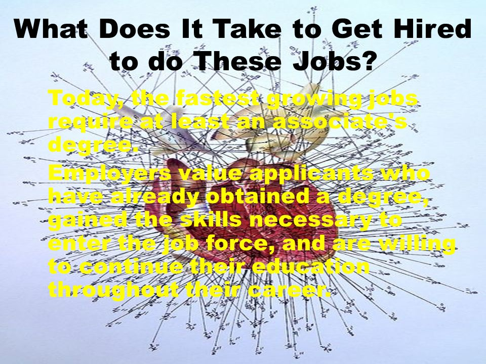 What Does It Take to Get Hired to do These Jobs