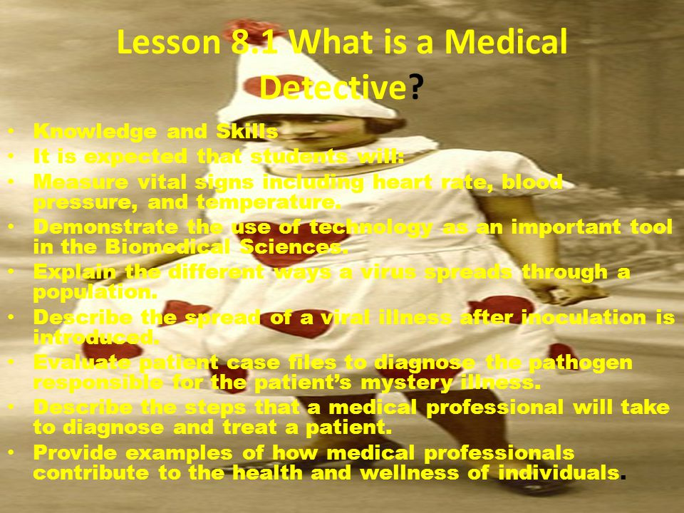 Lesson 8.1 What is a Medical Detective