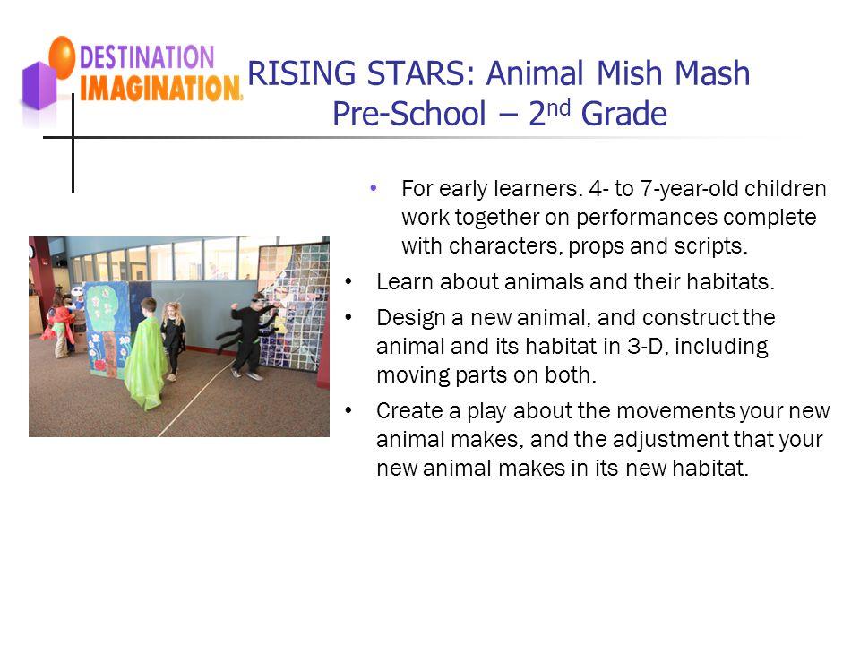 RISING STARS: Animal Mish Mash Pre-School – 2nd Grade