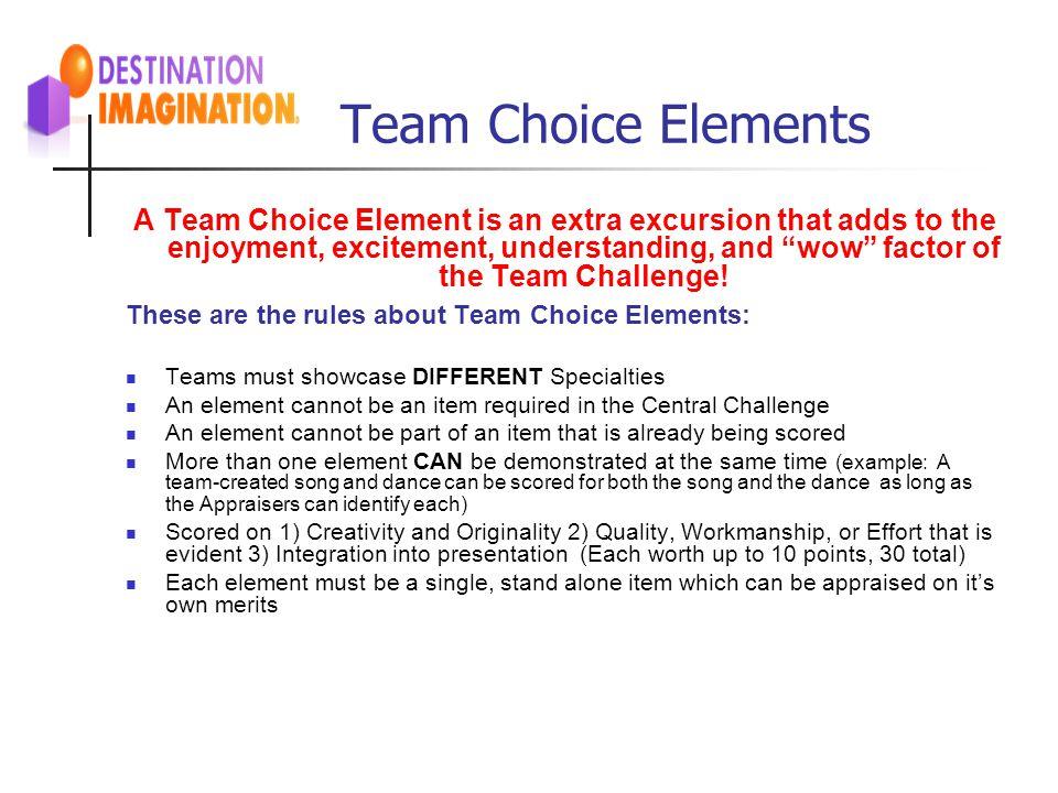 Team Choice Elements