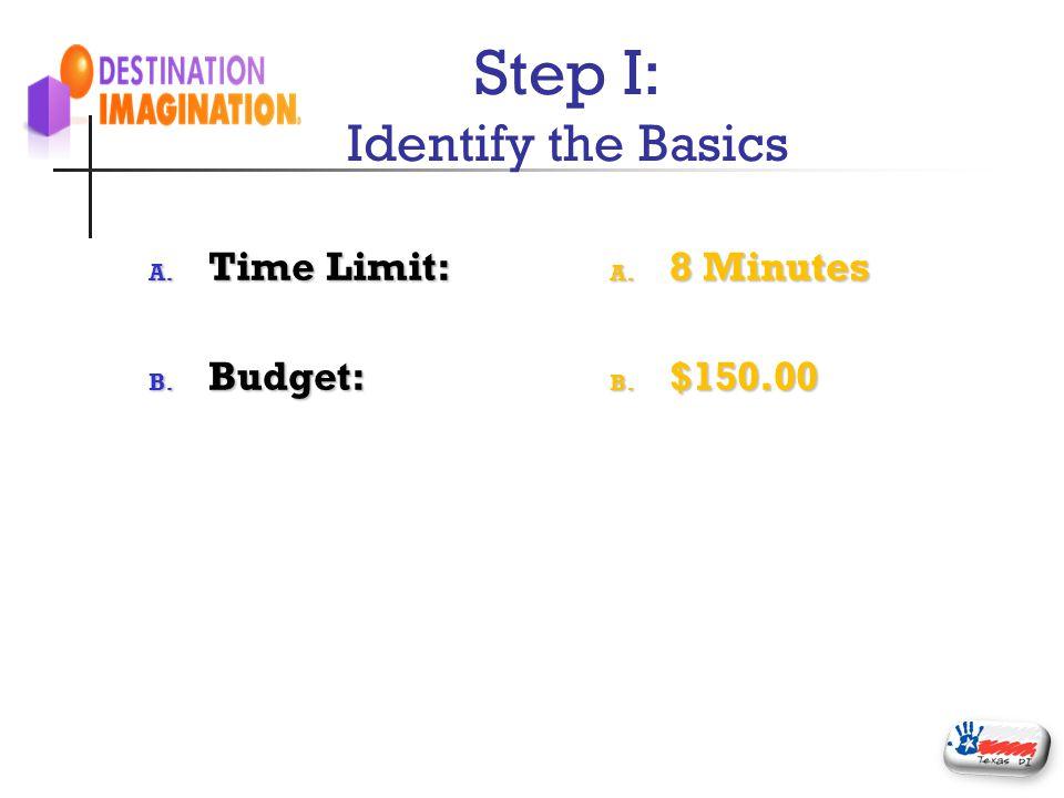 Step I: Identify the Basics
