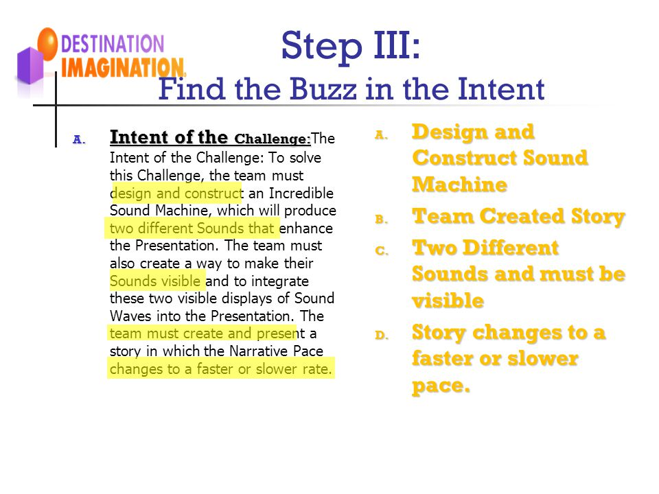 Step III: Find the Buzz in the Intent