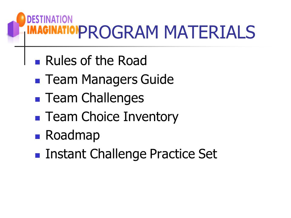 PROGRAM MATERIALS Rules of the Road Team Managers Guide