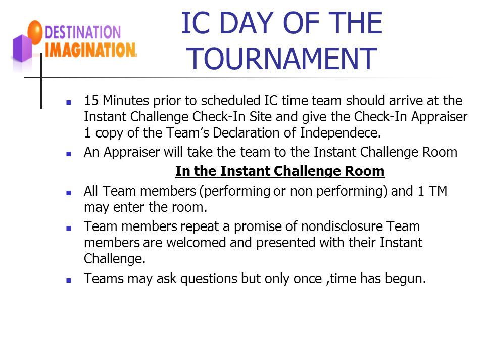 IC DAY OF THE TOURNAMENT