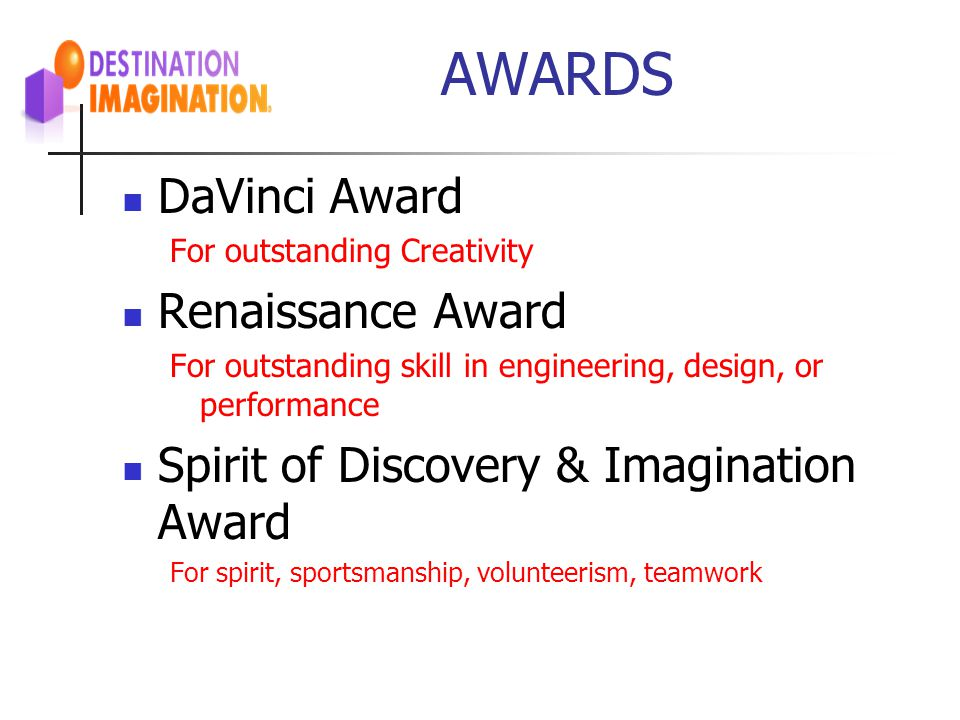 AWARDS DaVinci Award Renaissance Award