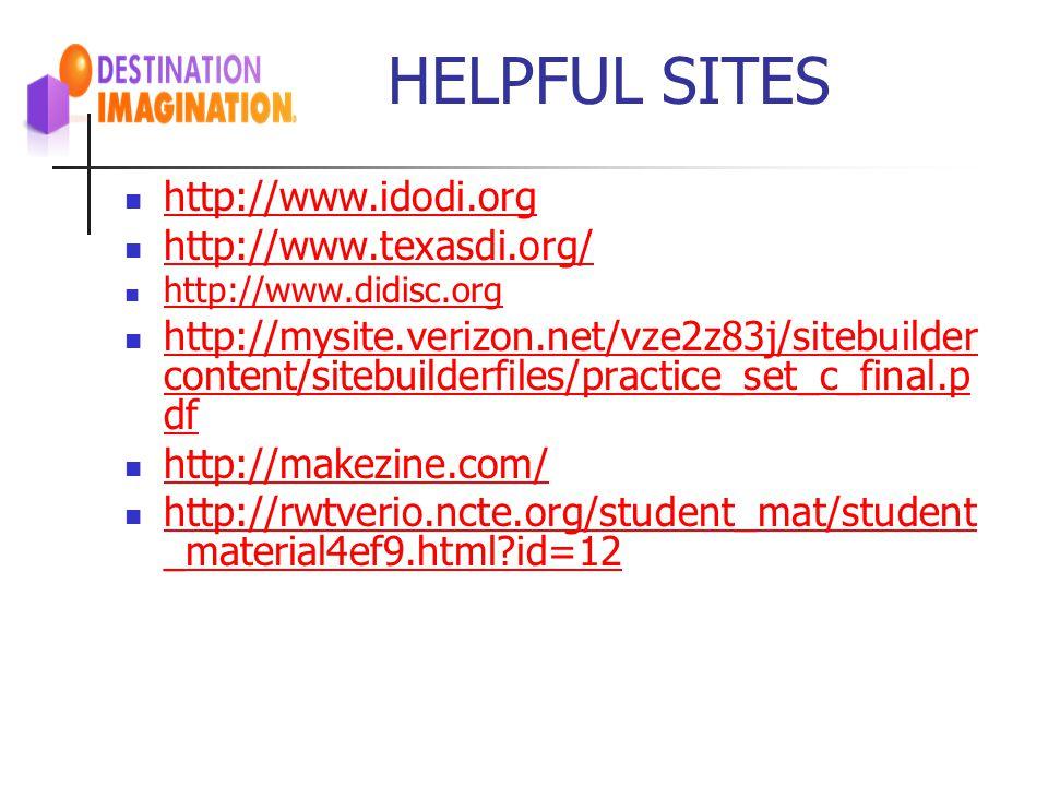 HELPFUL SITES http://www.idodi.org http://www.texasdi.org/