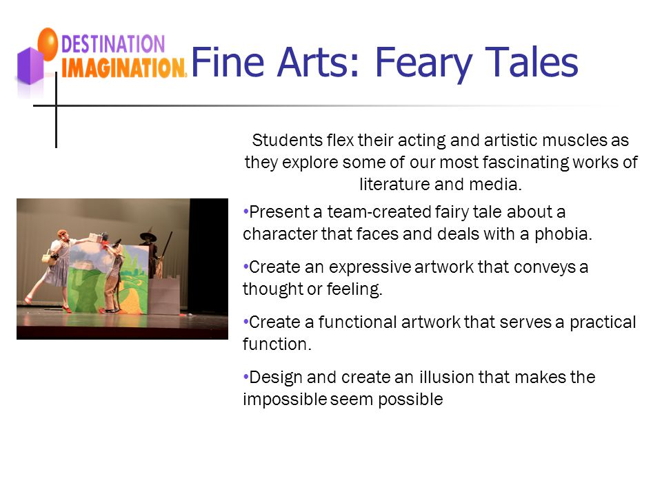 Fine Arts: Feary Tales Students flex their acting and artistic muscles as they explore some of our most fascinating works of literature and media.
