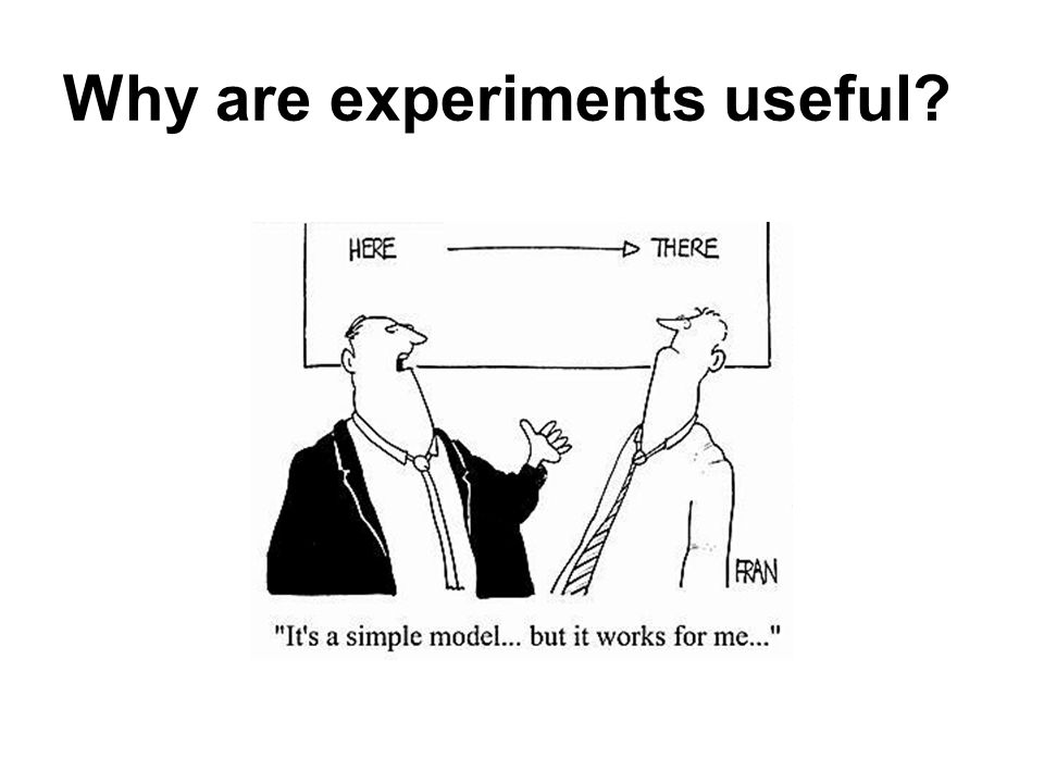 Why are experiments useful