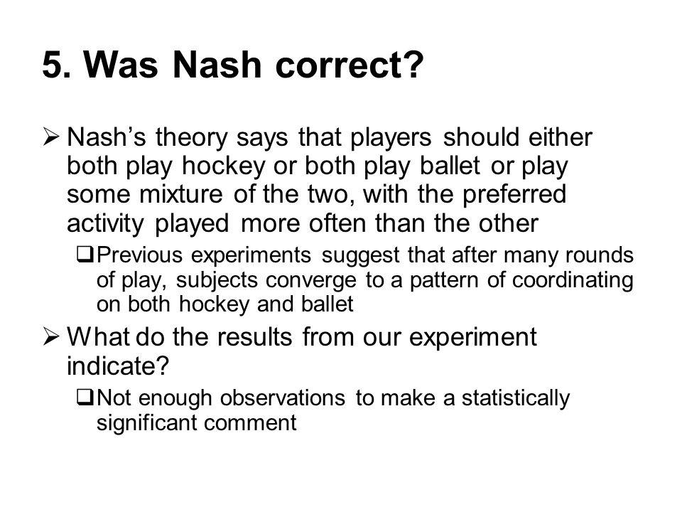 5. Was Nash correct