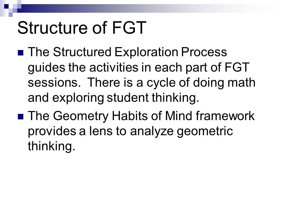 Structure of FGT