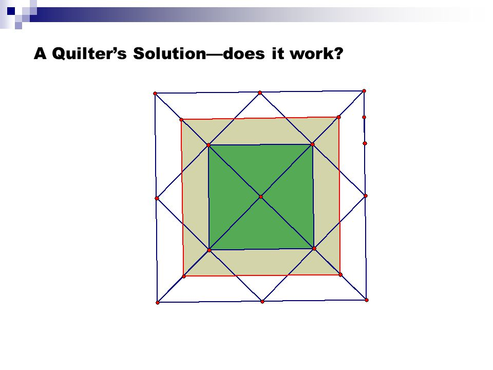 A Quilter's Solution—does it work