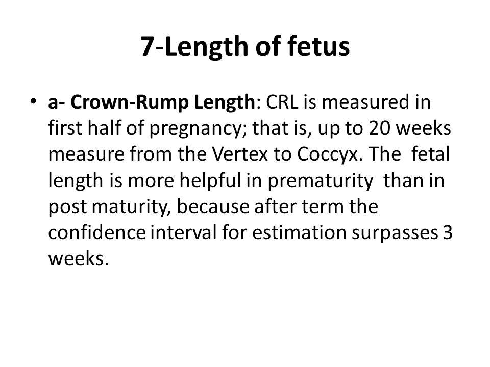7-Length of fetus