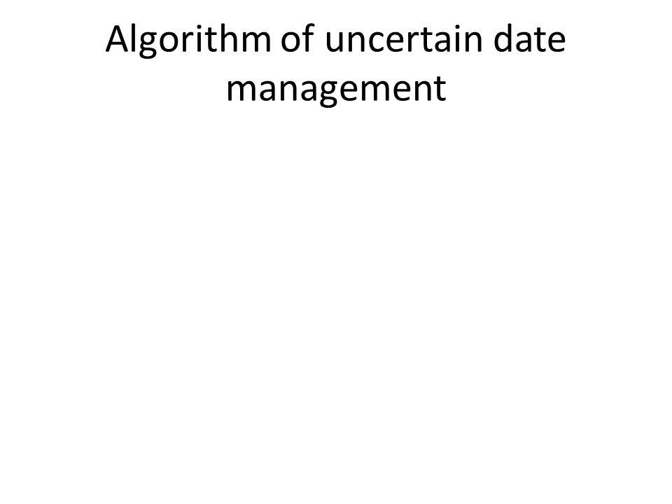 Algorithm of uncertain date management