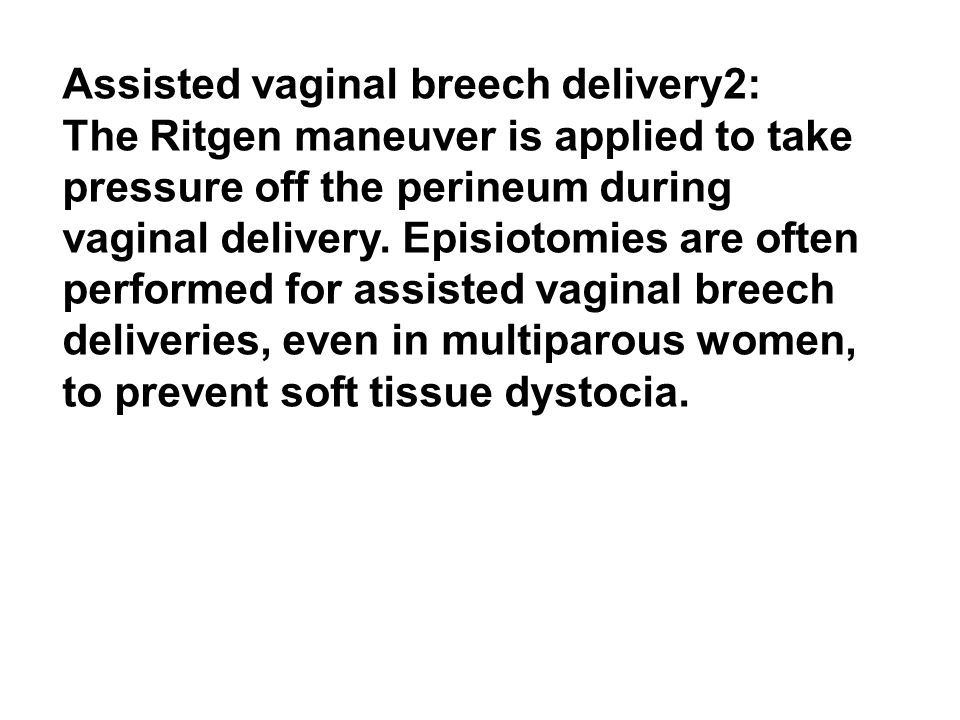 Assisted vaginal breech delivery2: