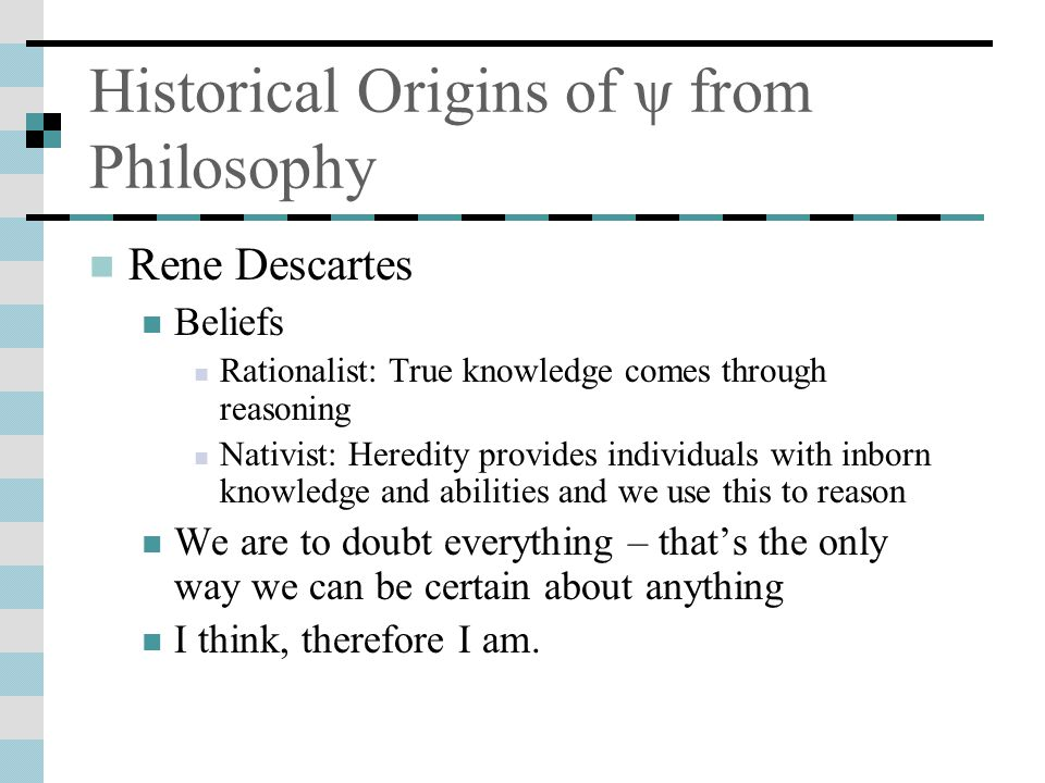 Historical Origins of ψ from Philosophy