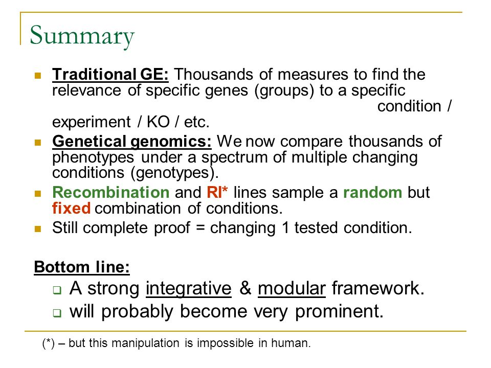 Summary A strong integrative & modular framework.