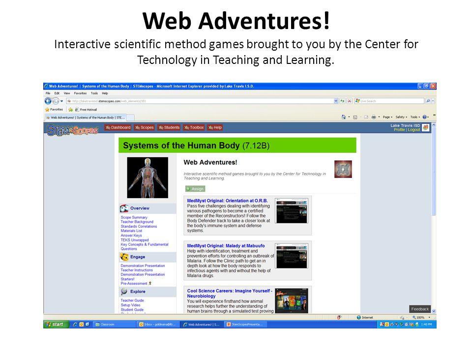 Web Adventures.