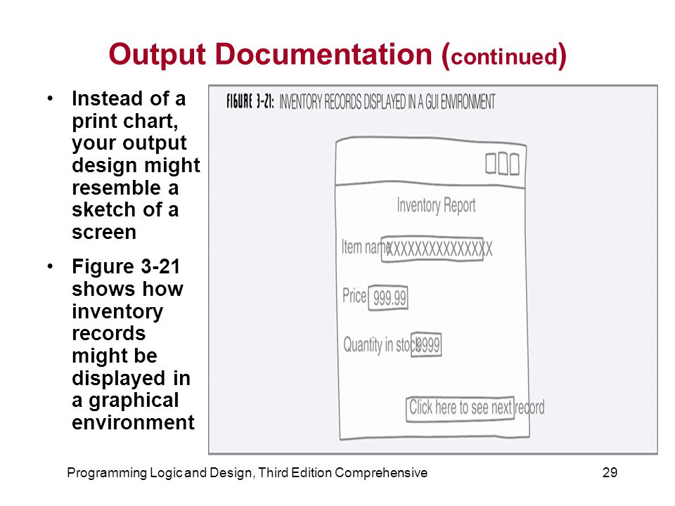 Output Documentation (continued)