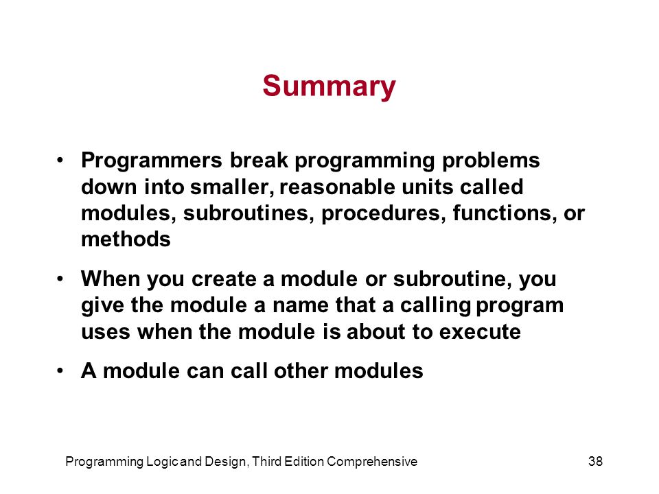 Programming Logic and Design, Third Edition Comprehensive