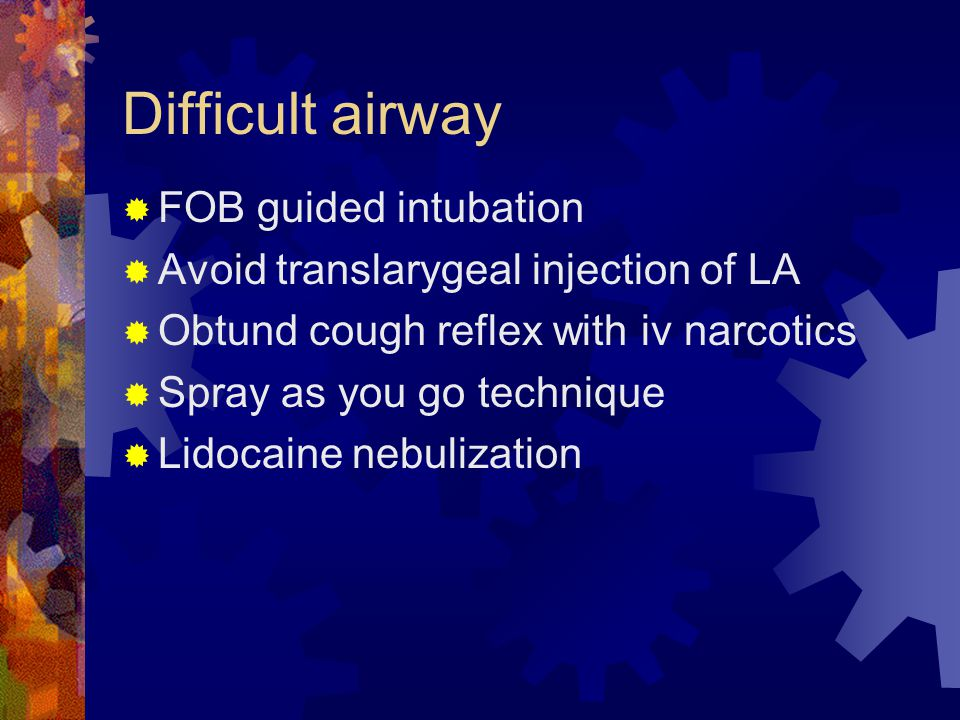 Difficult airway FOB guided intubation