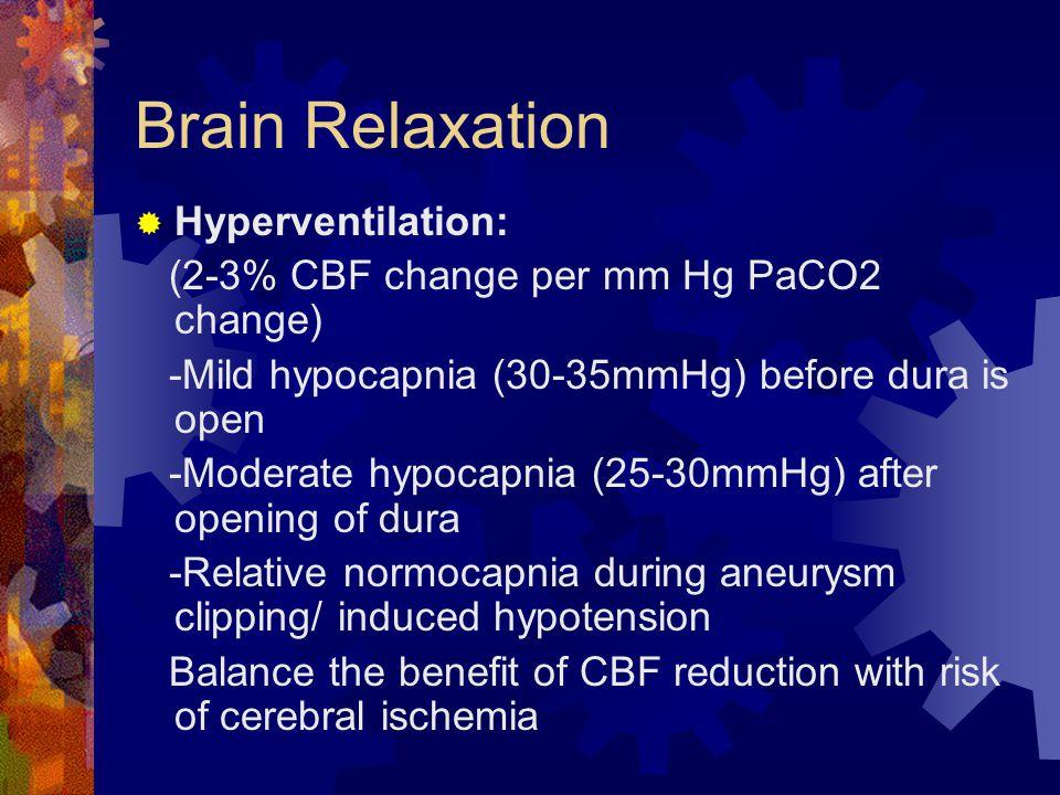 Brain Relaxation Hyperventilation: