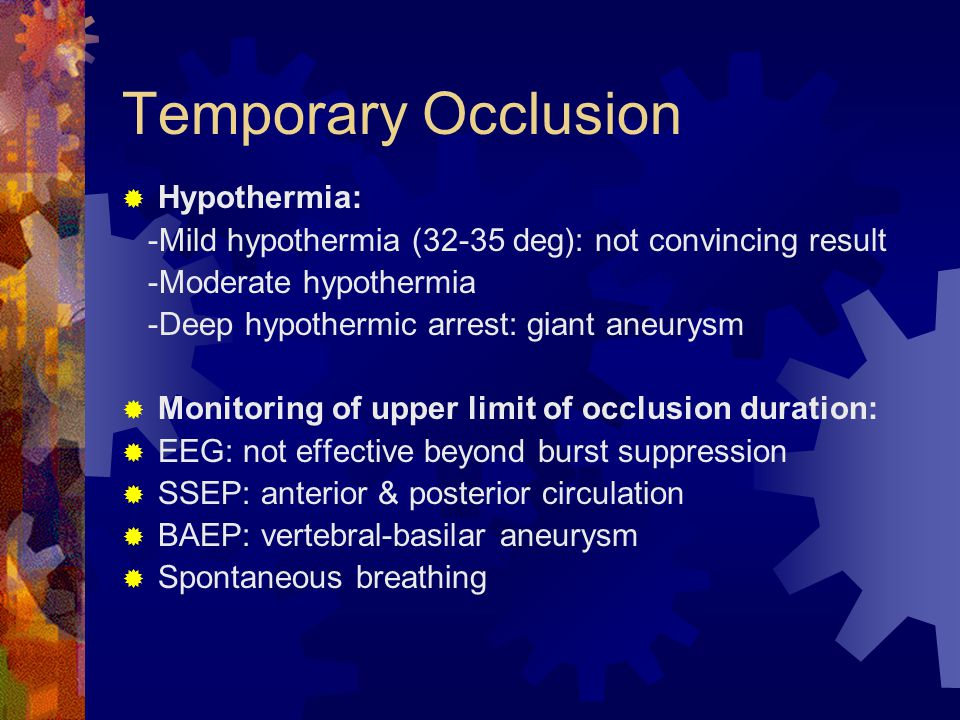 Temporary Occlusion Hypothermia: