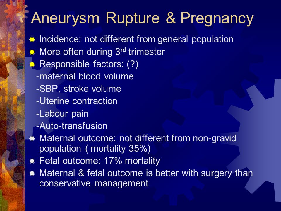 Aneurysm Rupture & Pregnancy