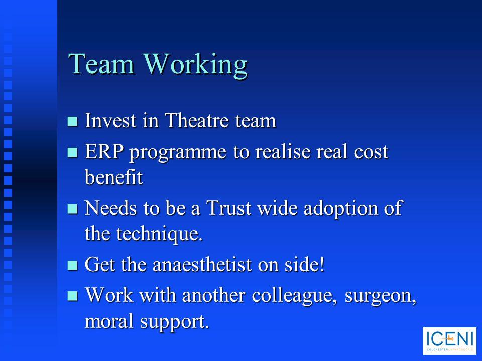 Team Working Invest in Theatre team