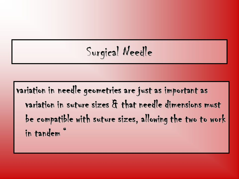 Surgical Needle