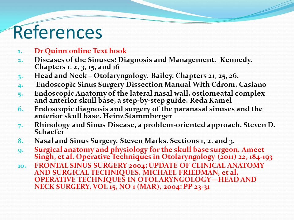 References Dr Quinn online Text book