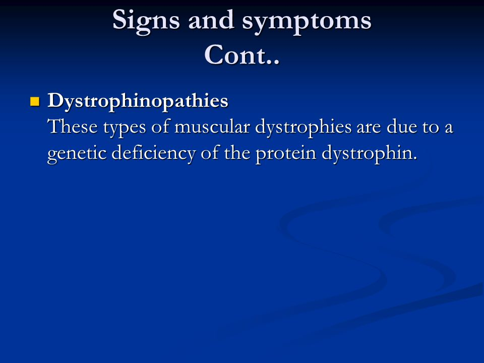 Signs and symptoms Cont..