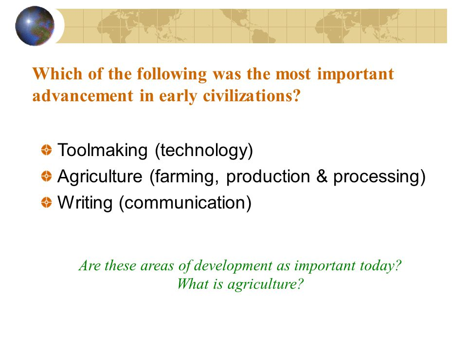 Are these areas of development as important today
