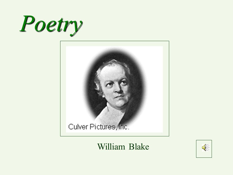 Poetry William Blake