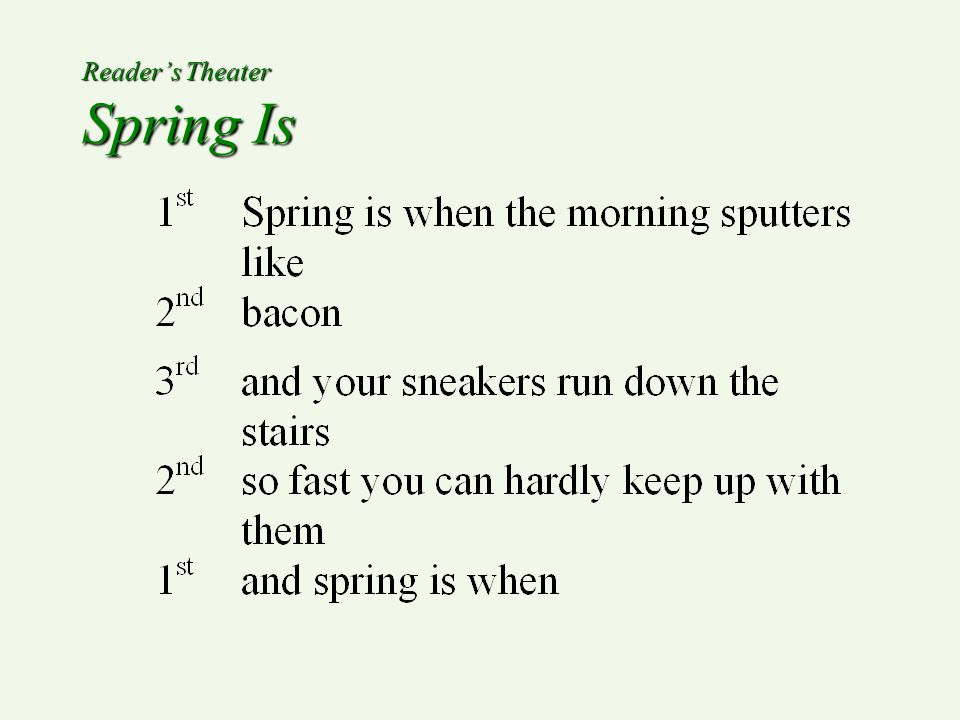 Reader's Theater Spring Is