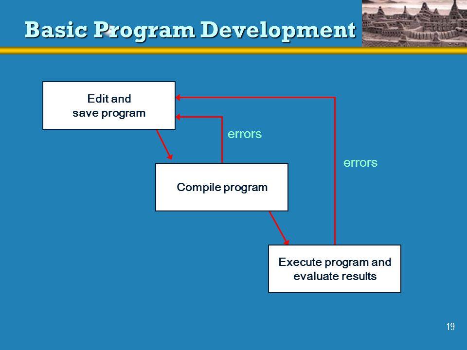 Basic Program Development