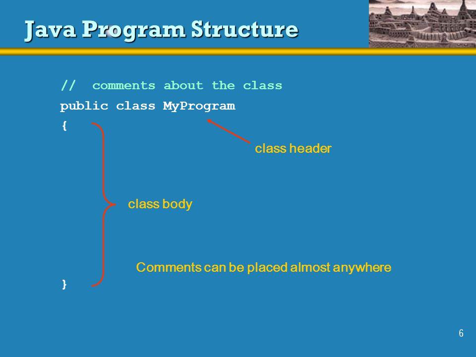 Java Program Structure