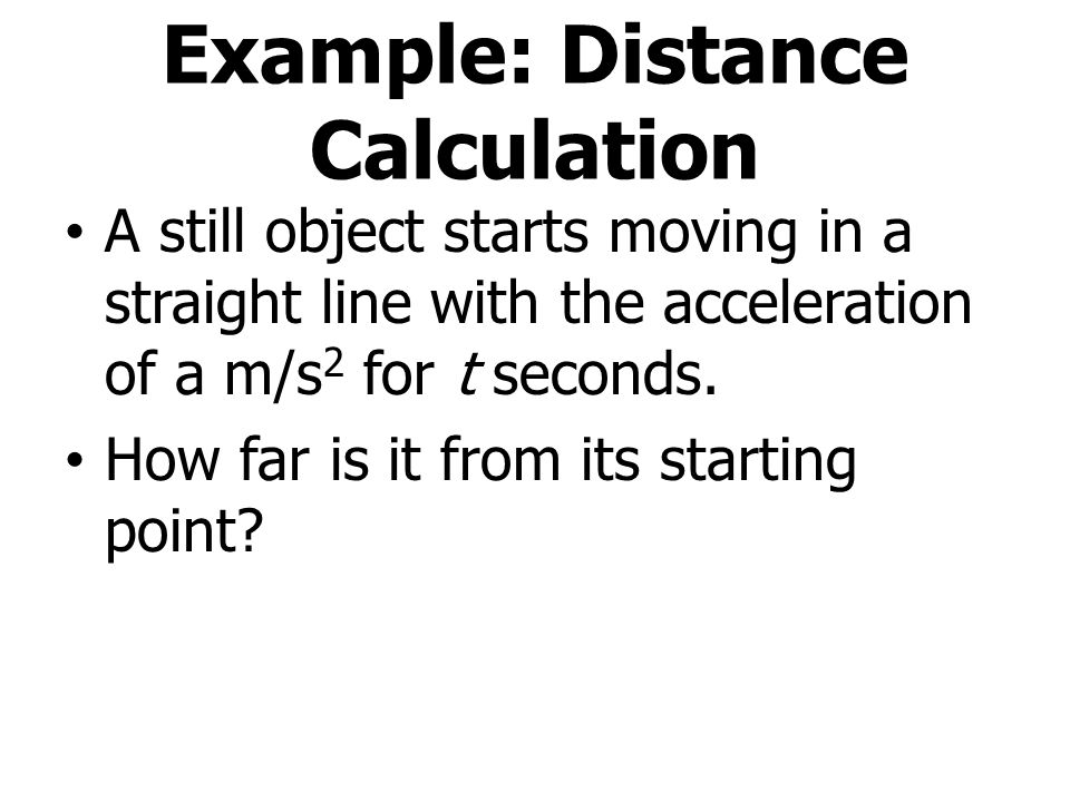 Example: Distance Calculation