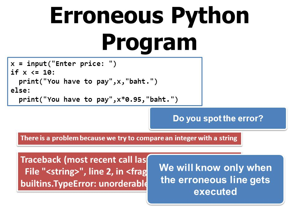 Erroneous Python Program