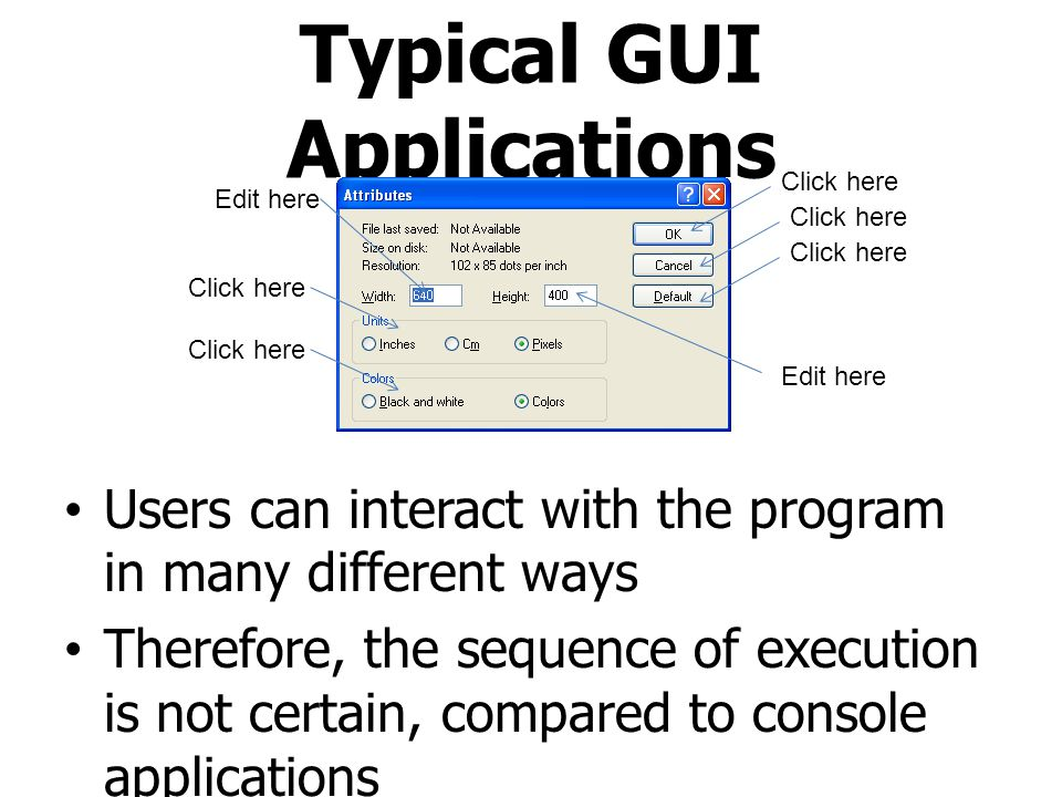Typical GUI Applications