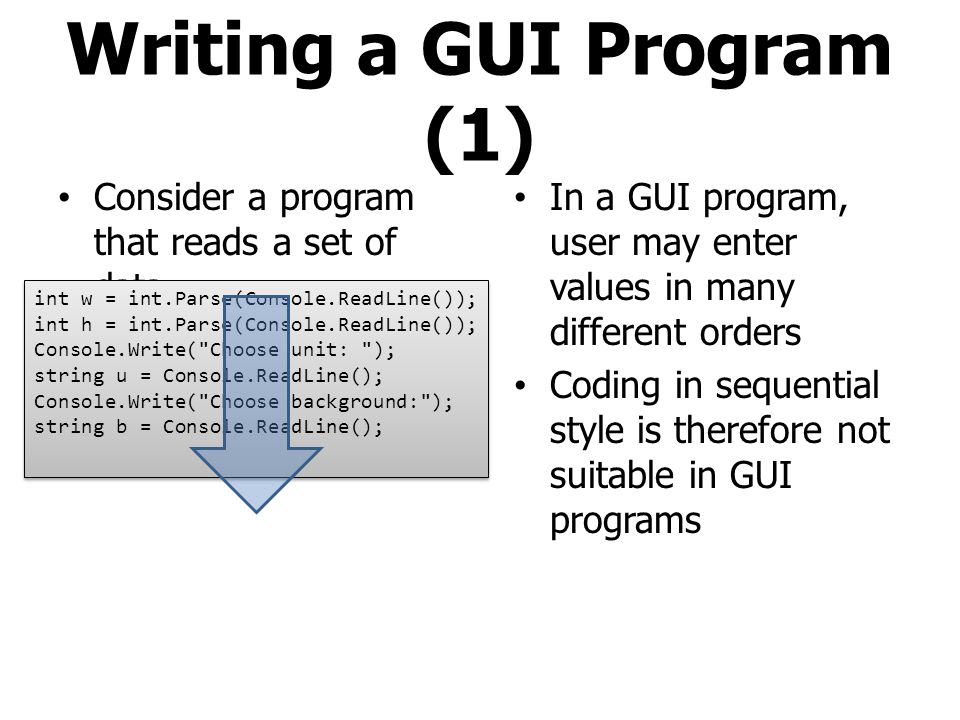 Writing a GUI Program (1)