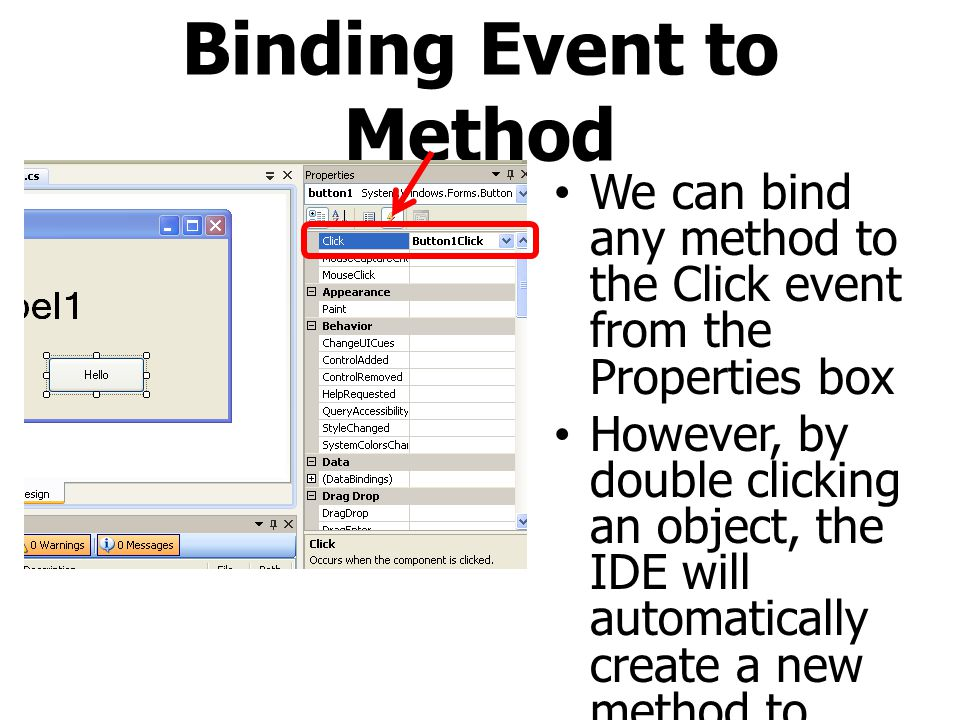 Binding Event to Method