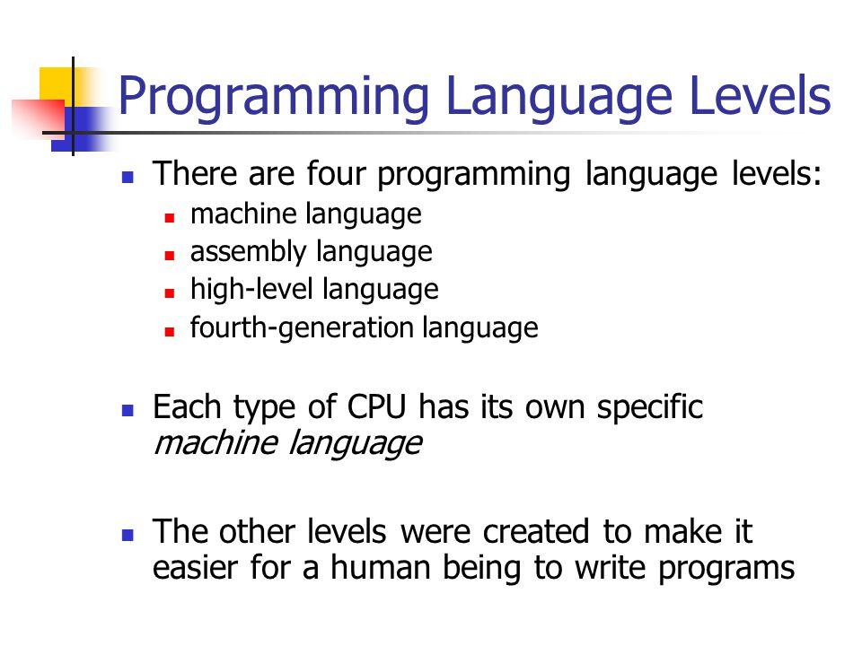 Programming Language Levels