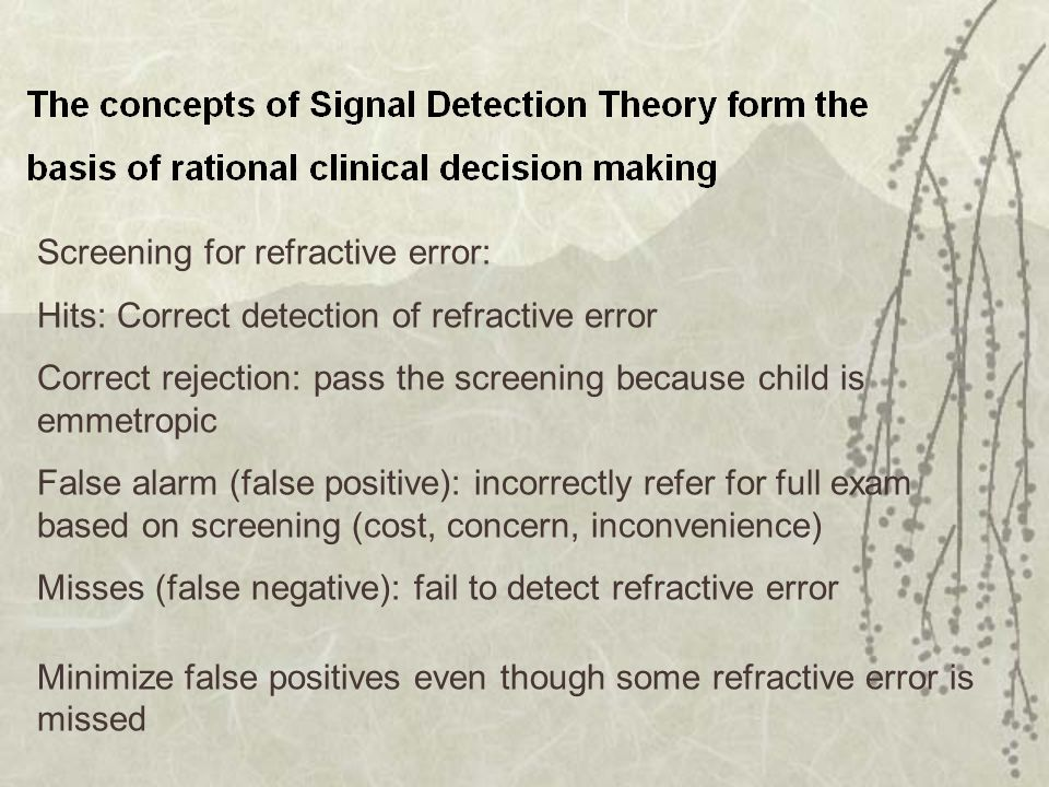 Screening for refractive error: