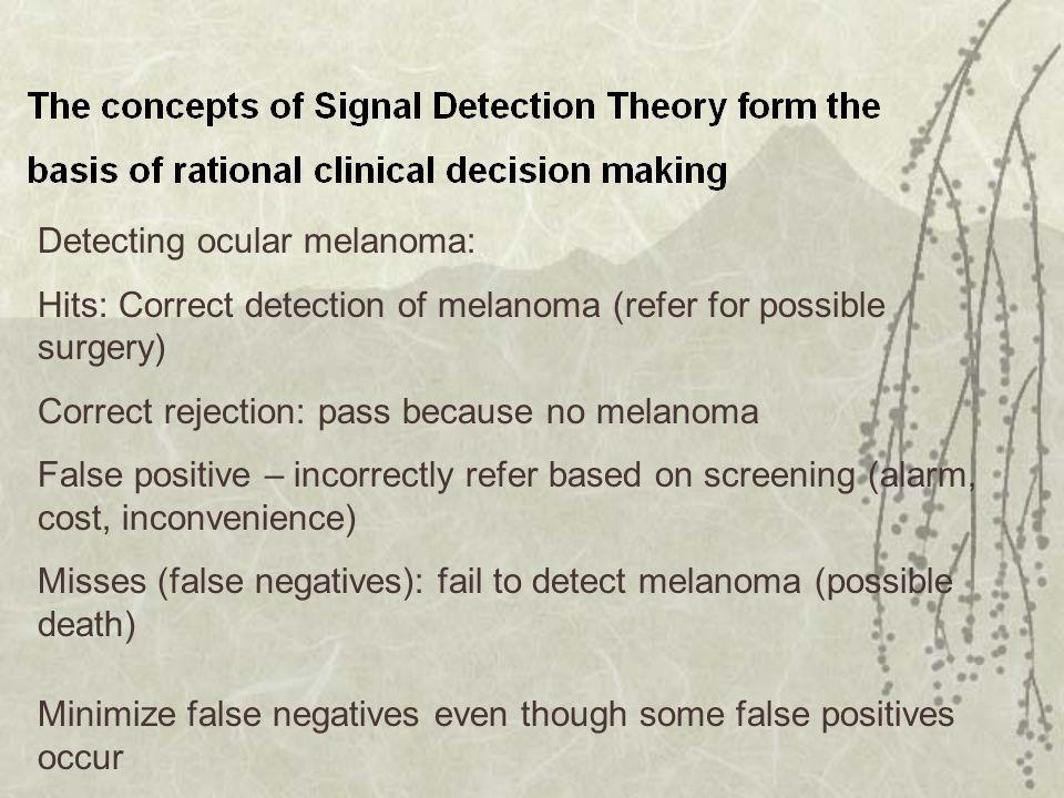 Detecting ocular melanoma:
