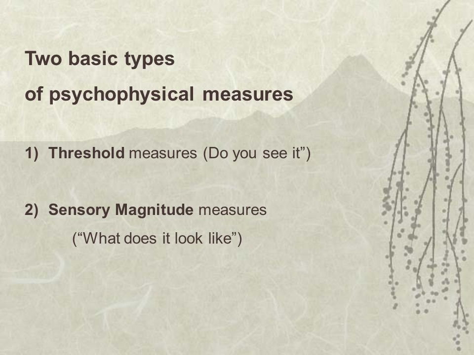 of psychophysical measures