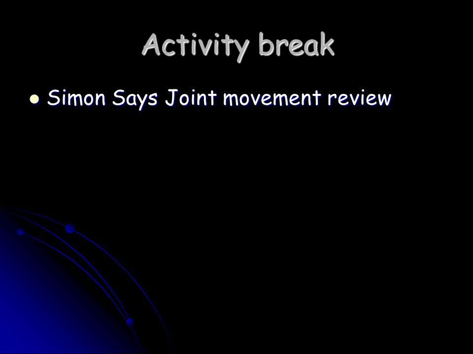 Activity break Simon Says Joint movement review