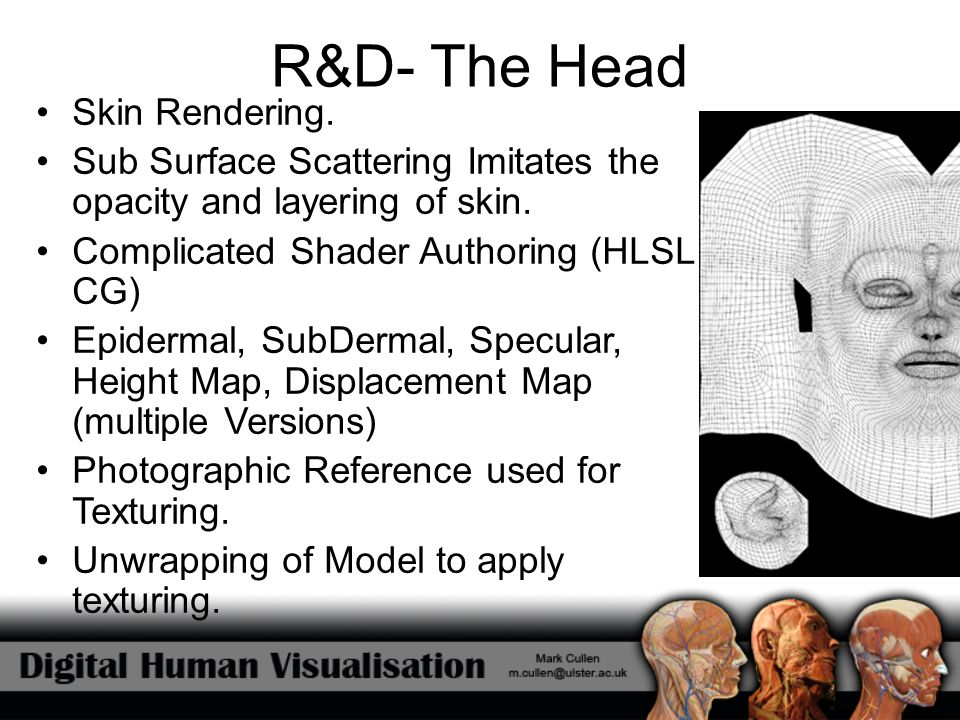 R&D- The Head Skin Rendering.