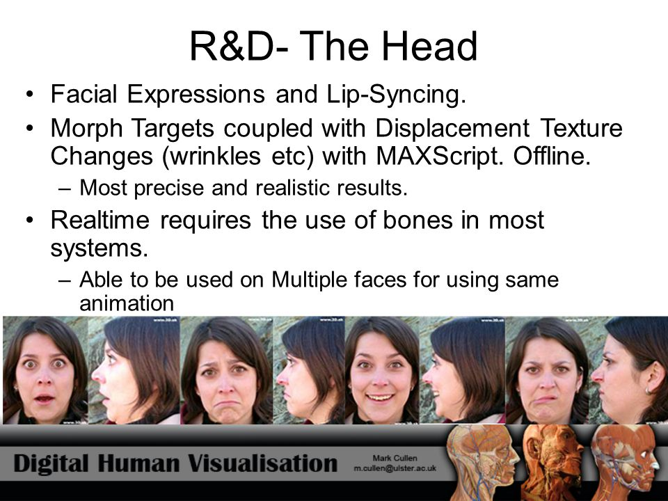 R&D- The Head Facial Expressions and Lip-Syncing.