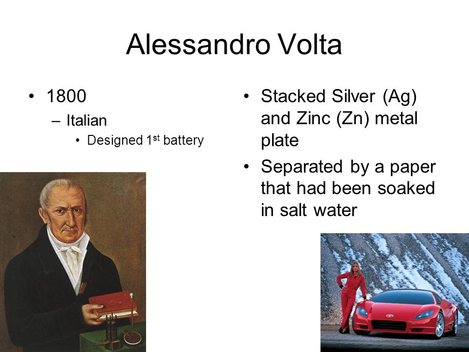Alessandro Volta 1800 Stacked Silver (Ag) and Zinc (Zn) metal plate